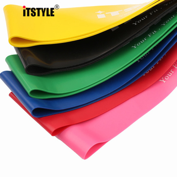 ITSTYLE Resistance Bands 6 Levels Exercises Elastic Fitness Training Yoga Loop Band Workout Pull Rope With Strength Test Video 2