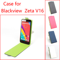 For Blackview Zeta V16 Phone Case Pure Color Up-down Open Vertical Flip Premium PU Leather Case Cover