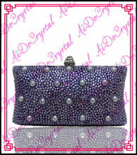 Aidocrystal fashionable handmade purple pearls ladies clutch bag and matching high heeled shoes for party
