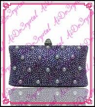 Aidocrystal modische handgemachte lila perlen damen handtasche und passenden hochhackige schuhe für party