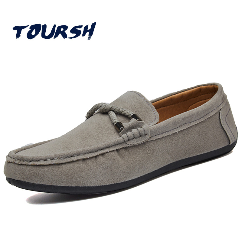 TOURSH New Shoes Men Casual Moccasins Men Loafers High Quality Leather Shoes Men Flats Gommino Driving Shoes Hommes Chaussures top brand high quality genuine leather casual men shoes cow suede comfortable loafers soft breathable shoes men flats warm