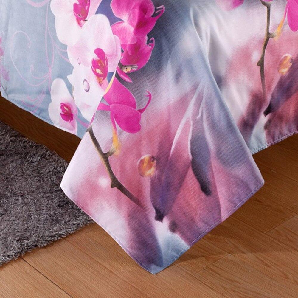 4PCS/SET Comfortable Bedding Set 3D Floral Printed Home Bedroom Bed Clothes Duvet Cover