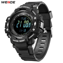 WEIDE Sports Military Fashion 50 Bar Water Resistant Electronic Digital Clock Alarm Back Light PU Strap Black Wrist Watch Hour