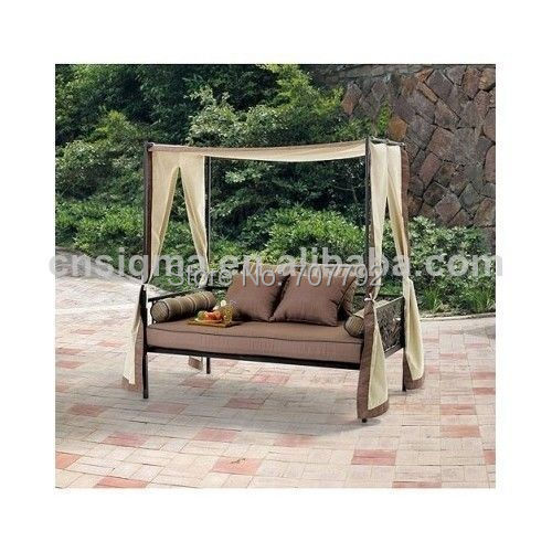 2014 Hot Sale Canopy Chaise Patio Garden Yard Rattan Lounger Daybed(China  (Mainland)