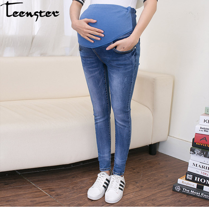Teenster Maternity Clothes Pregnancy Trousers Broken Hole Jeans Summer Thin Style Pregnant Pants Leggings Maternity Support winter jacket woman parka fem me hiver women s long coats and jackets plus big size black navy hood jazzevar miegofce 2018 new