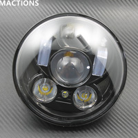 """Motorcycle Accessories 5.75"""" Headlight Motorcycle 5 3/4"""" LED Headlight for Harley 5 3/4"""" Motorcycle Black Projector
