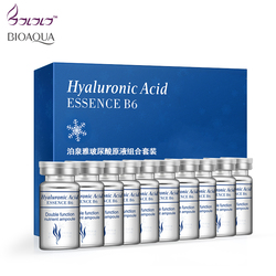 BIOAQUA 10pcs Vitaminas Soro Hidratante Ácido Hialurônico hidratante Facial Anti Rugas Envelhecimento Colágeno Essência do Cuidado Da Pele