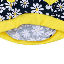 Flowers Print Cotton Jersey Dog Clothes