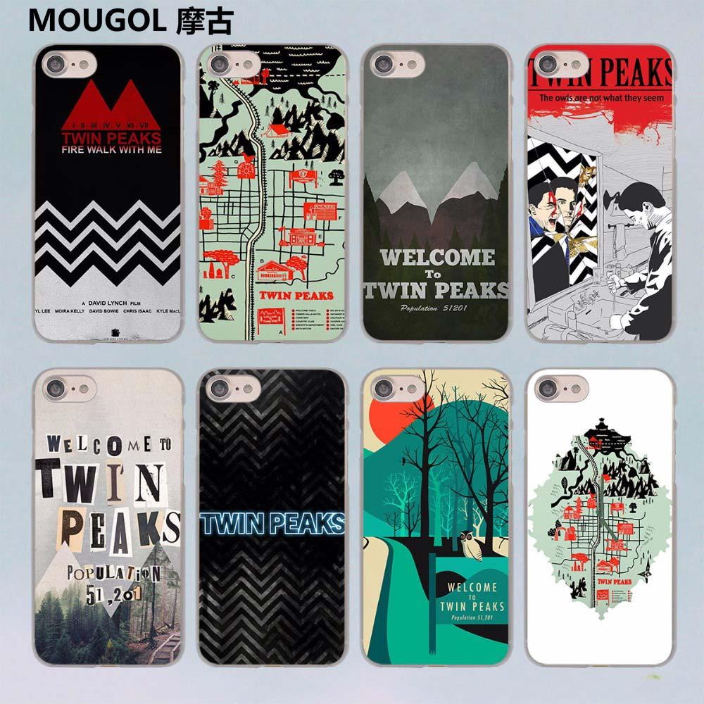 Mougol Добро пожаловать Твин Пикс Дизайн Прозрачный жесткий чехол для Apple iPhone 6/6 s 6 Plus 7 7 Plus 5 5S SE 5C ...
