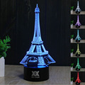 HUI YUAN Eiffel Tower Lamp 3D Visual Led Night Lights for Kids Touch USB Table light Children Christmas gifts