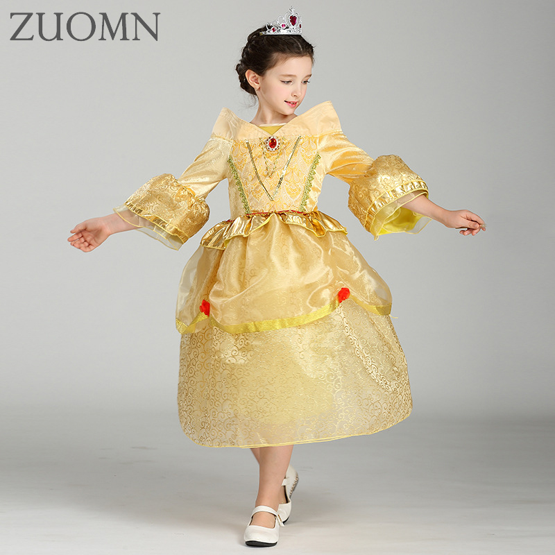 Halloween Sofia Princess Baby Girls Costume Party Dress Princess Fluffy Dressbig Petals Princess Sophia Clothes YL518