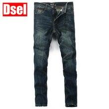 Dsel бренд Бесплатная доставка Лидер продаж Модные хлопковые джинсы Новый Для мужчин джинсы Узкие прямые джинсы мужские в Корейском стиле длинные штаны мужские джинсы