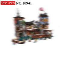 Бела 10941 серии ниндзя в город ниндзя док станции модель строительные блоки комплект Совместимость 70657 классические Архитектура игрушки для
