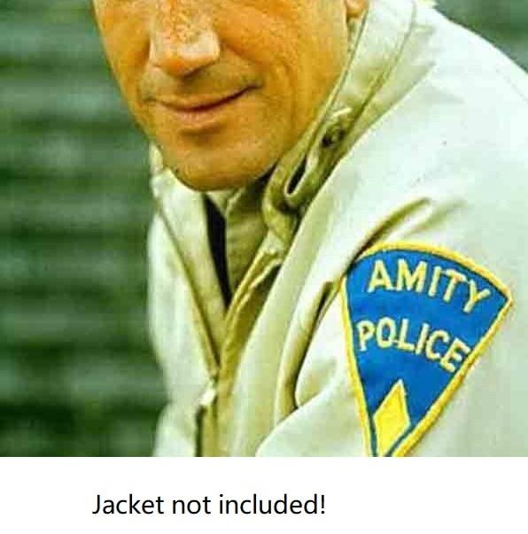 """5 """"jaws 보안관 brody amity island 유니폼 패치 배지에 수 놓은 철 공포 영화 할로윈 코스프레 의상 의류 diy-에서패치부터 홈 & 가든 의  그룹 2"""