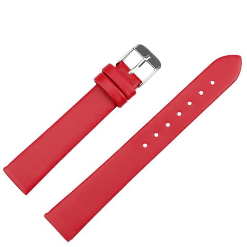 Correa de reloj de moda de alta calidad correas de cuero 16mm accesorios de reloj para hombre negro rojo rosa 5 colores correas de reloj Dropshiping