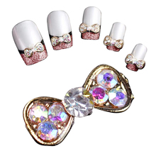 JEYL 10X 40Pcs DIY Metal 3D Nail Art Tip Decoration Mix Color & Pattern Fashion Luxury Charm Jewelry Tools Bowknot