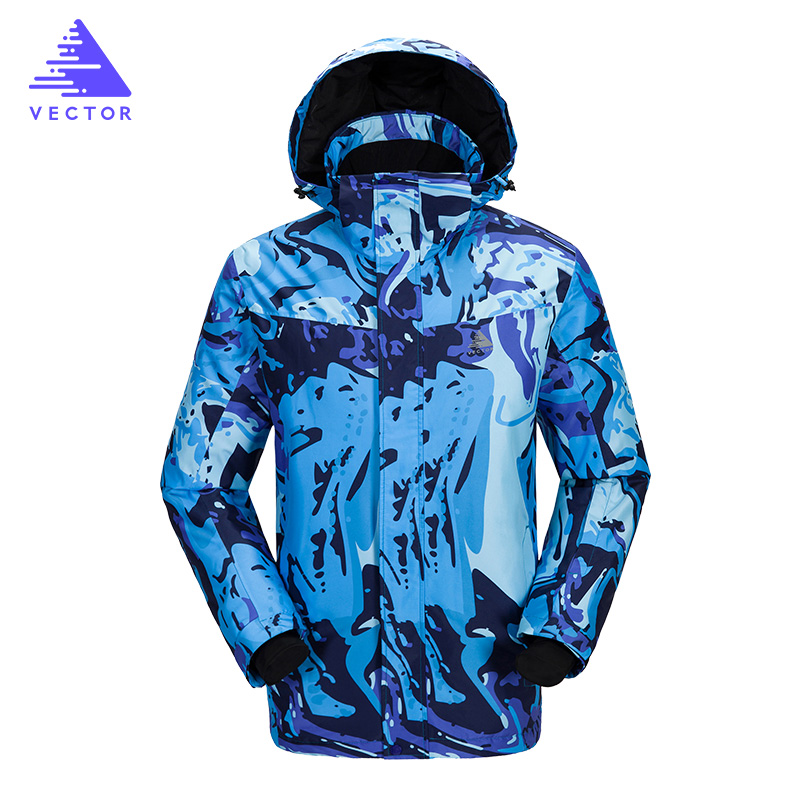 Hommes de Ski Vestes Snowboard Ensembles Hommes Ski Costume Marques Imperméable Respirant Mâle Snowboard Costumes Imprimé Hommes de Ski Vestes