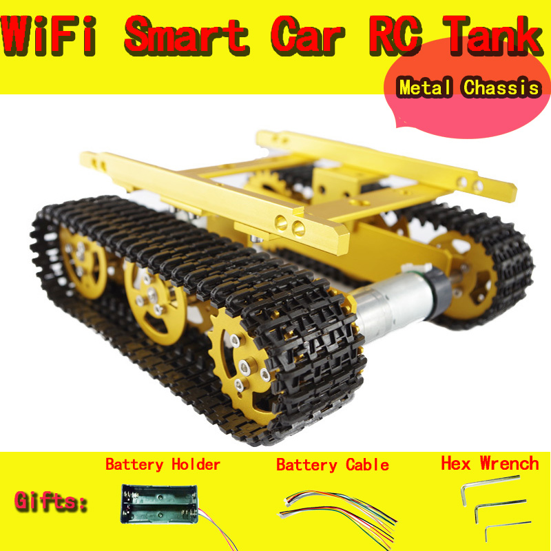 DOIT Tank Chassis Wireless Crawler Intelligent Tractor Tracing Robot DIY RC Toy KIT Electronic Toy official doit thermistor relay control module temperature sensor detection switch 5v 12v robot diy rc electronic toy robot