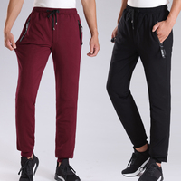 2018male Feet Stretch Leisure Wears Outside Thickening Of Tall Waist Duck Sweat Pants Loose Cultivate One