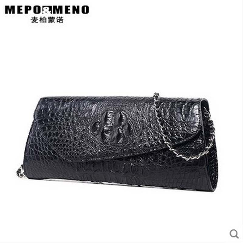 maibomengnuo thai crocodile leather women handbag women bag lady's single shoulder bag chain bag lady bag yuanyuqiiandian thai crocodile female bag imported crocodile leather single shoulder bag ladies fashion women long chain bag