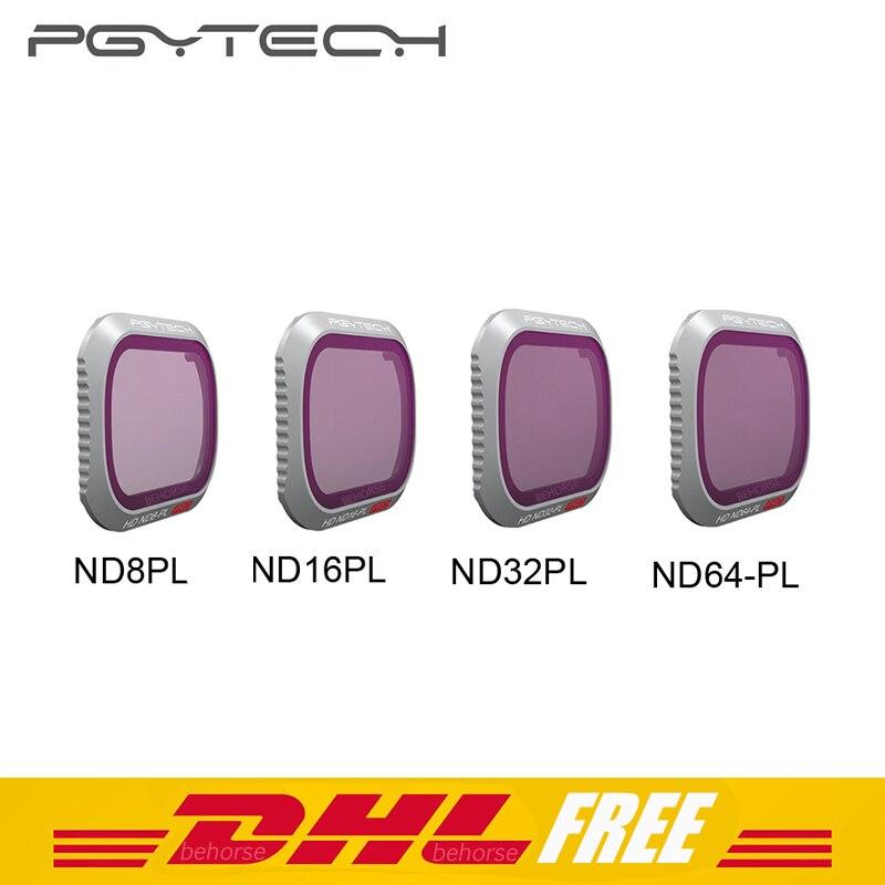4 шт. PGYTECH Mavic 2 про фильтр ND8/ND16/ND32/ND64 фильтры Комплект для DJI Мавик 2 Pro Камера фильтр объектива Drone аксессуары
