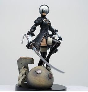 Image 1 - 15cm ps4 jogo anime figura nier automata yorha não. 2 tipo b 2b brinquedo dos desenhos animados figura de ação presente