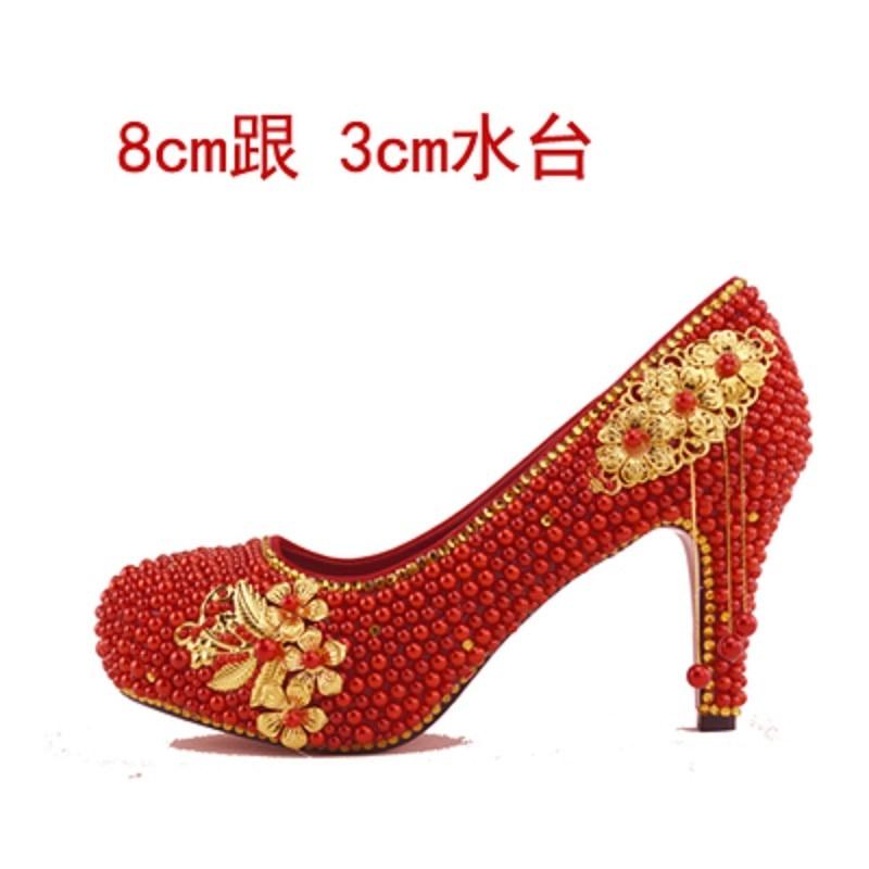 Chaussures Gland 2019 Hauts Blanc Mariage Dames 8cm D'or Grande 14cm Talons Mariée De Perle 14cm Nouvelles Taille À 8cm Femmes 11cm FxFw8rA