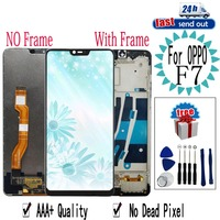 6.23 F7 LCD For OPPO F7 A3 LCD Display CPH1819 CPH1821 Touch Screen Digitizer Assembly Replacement with Frame For OPPO A3