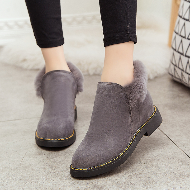 2016 New Arrival Winter Women Snow Boots Ankle With Fur High Quality Comfortable Soft Warm Ladies Platform Boots Zapatos Mujer 2016 rhinestone sheepskin women snow boots with fur flat platform ankle winter boots ladies australia boots bottine femme botas