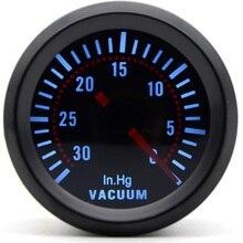 2 ''52 мм Универсальный дымовой объектив Вакуумный Манометр 0-30 дюймов. Hg вакуумный измеритель светодиодный автомобильный манометр
