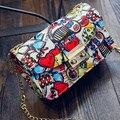 Sacos novos Mulheres Verão Cadeia Graffiti Designer Bolsas de Alta Qualidade Mini Crossbody Bag Mulheres Messenger Bags Para As Mulheres Embreagem