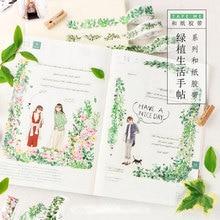 1 pcs Green plant series 1.5cm-3cm X 7m washi tape children like diy Diary decoration masking tape stationery scrapbooking tools