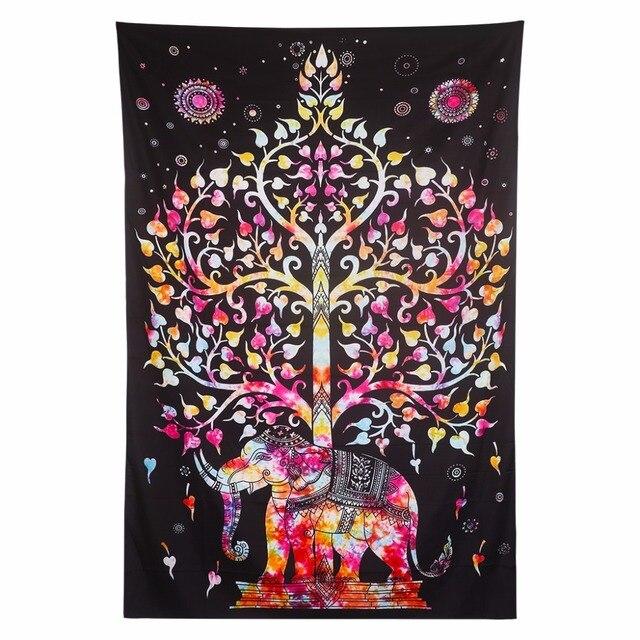 Rechteck Böhmischen Stil Hängende Tapestry Prrinted Mandala Wandbehang  Tapisserie Für Home Bettdecke Oder Tischdecke Und Handtuch
