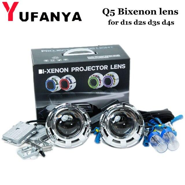 3 zoll auto styling bi xenon Projektor Objektiv von DQ5 mit AC xenon kit für d2h xenon lampe für scheinwerfer hid nachrüst freies verschiffen