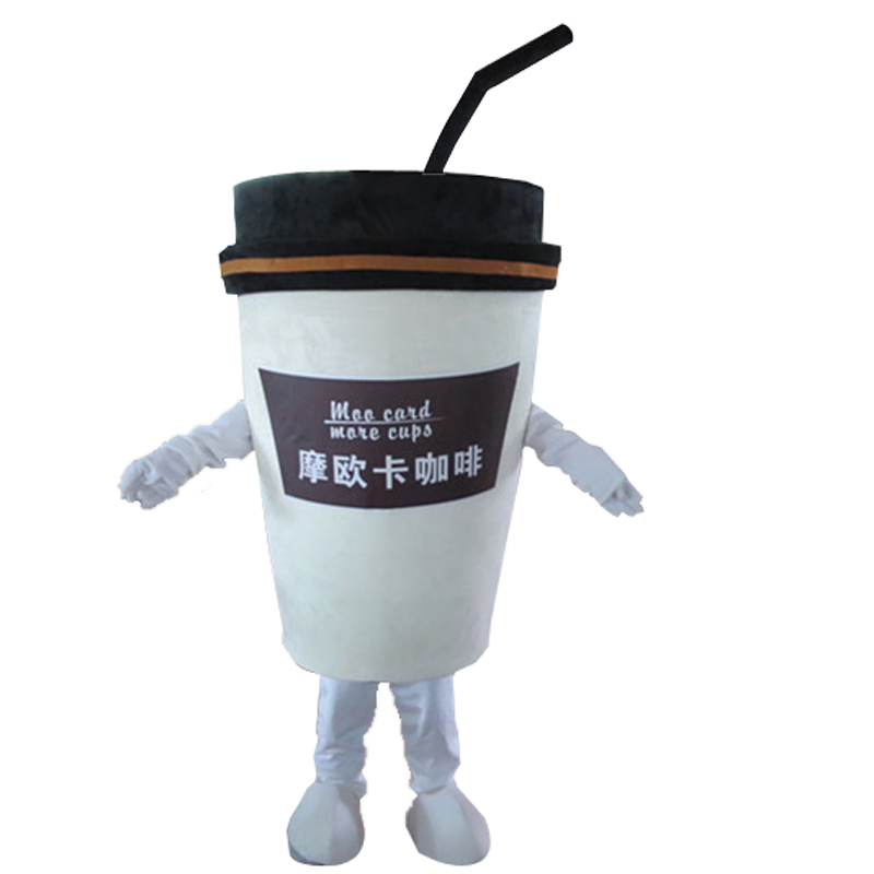 coffee cup mascot costume adult cartoon walking cosplay custom clothing Holiday special clothing for Halloween party event