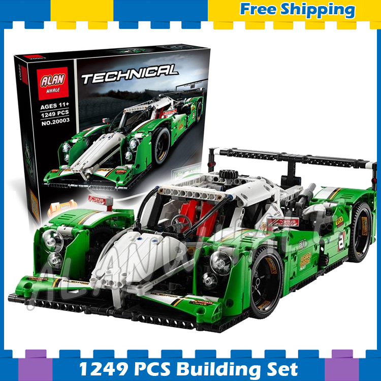 1249pcs 2in1 New Technic Motorized 24 Hours Race Car SUV Racer 20003 DIY Model Building Blocks Gifts sets Compatible With lego 720pcs techinic 2in1 motorized container