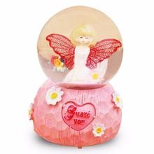 Scatole Musicali Muzik Kutusu Ballerina Caixinha Gift Note Snow Ball De Musica Caja Musical Carousel Boite A Musique Music Box