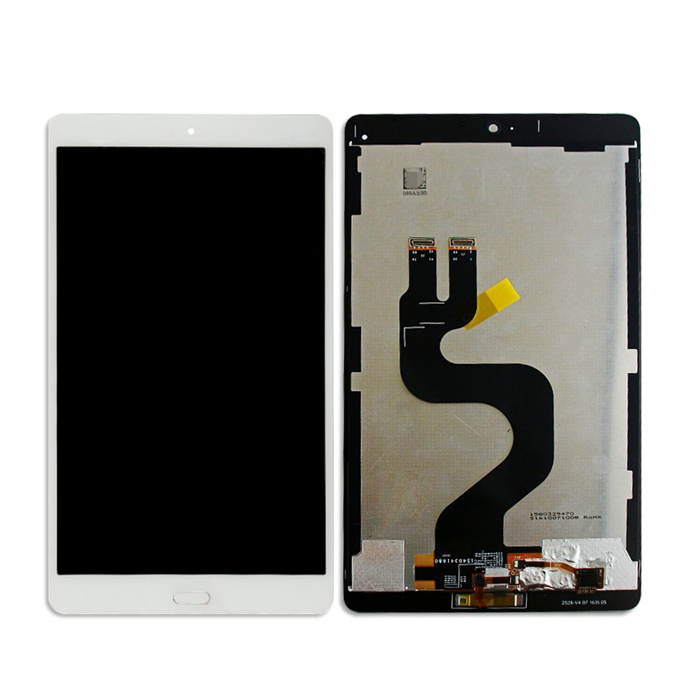 For Huawei MediaPad M3 8.4 BTV-W09 BTV-DL09 White LCD Display Panel Touch Screen Digitizer Sensor Assembly Replacement free shipping 2pcs sbr16 700mm linear bearing rails 4pcs sbr16uu bearing locks cnc x y z