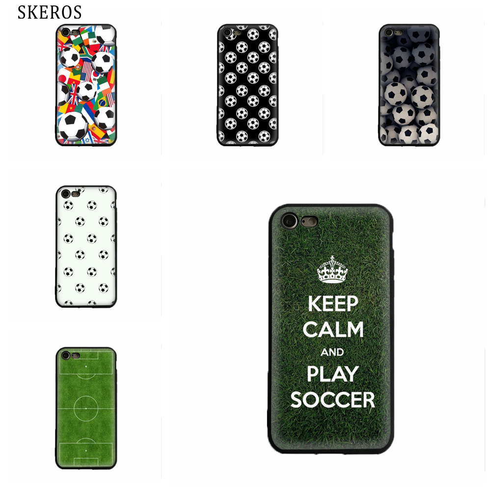SKEROS Soccer Field Green Sport TPU Phone Soft Cover For Iphone X 5 5S Se 6 6S 7 8 6 Plus 6S Plus 7 Plus 8 Plus #oa128