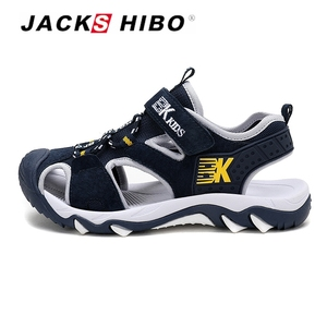 Image 2 - JACKSHIBO Kid Sandals Summer Cut outs Sandals Beach Close Toe Sandals for Child Water Shoes Anti skid New Design for Children