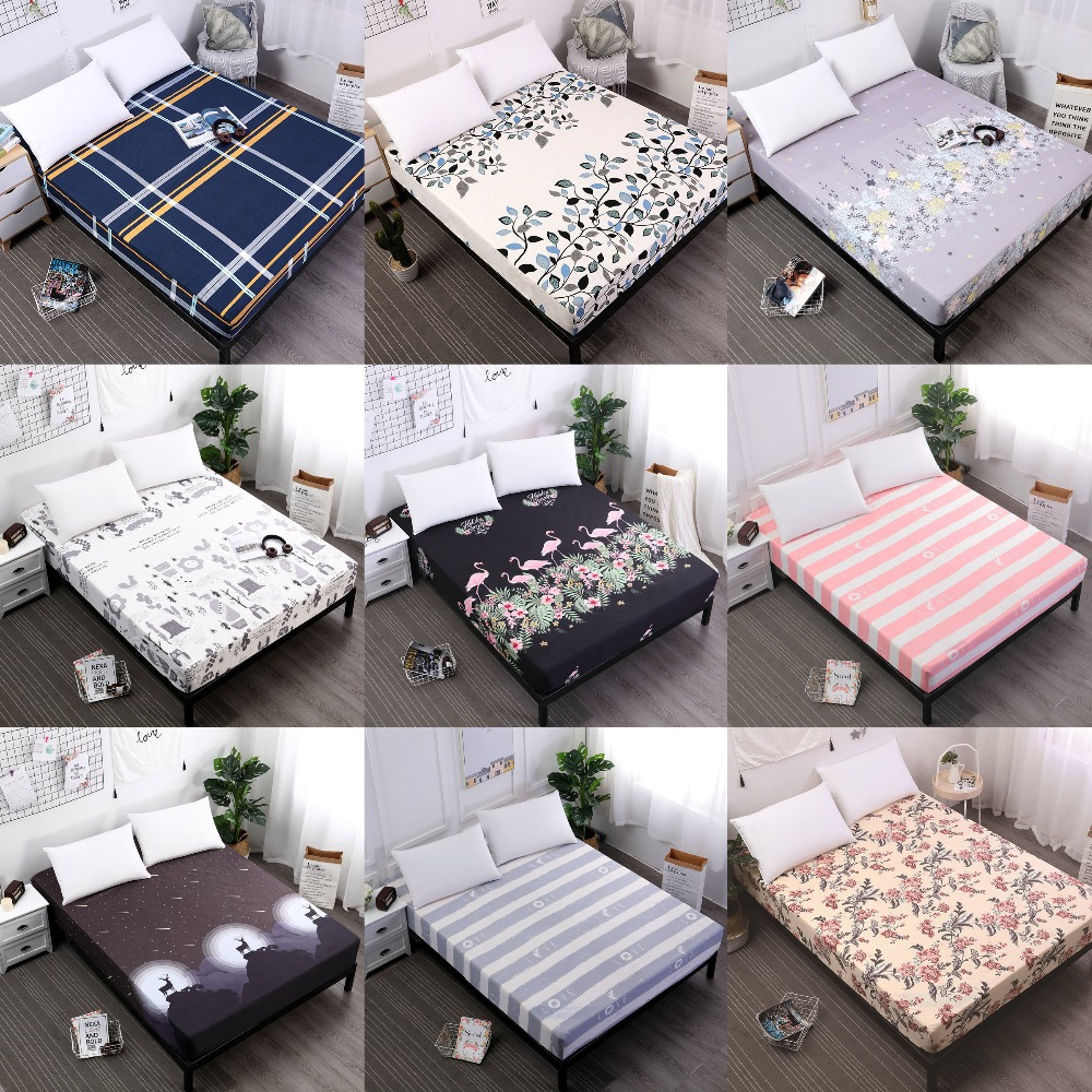 Waterproof Bed Mattress Pad Cover Fitted Sheet Separated Water Bed Linens with Elastic Bed Protector Mattress Cover Bed Bug image