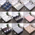 Waterproof Bed Mattress Pad Cover Fitted Sheet Separated Water Bed Linens with Elastic Bed Protector Mattress Cover Bed Bug