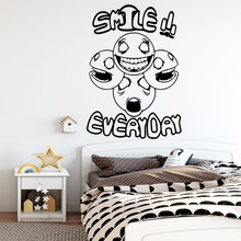 Colorful smile everyday Wall Stickers Home Decor Girls Bedroom Sticker For Kids Room Decoration