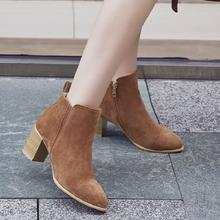 SALCXO ankle boots for women winter boots women autumn women shoes flock womens boots large size short boots free shipping &F8-2