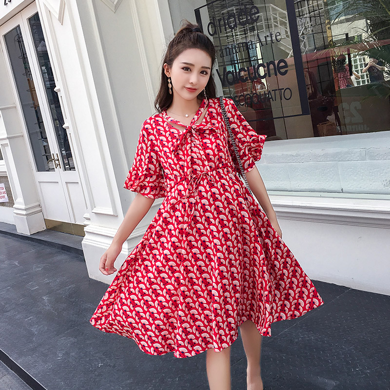 6757# Elegant Printed Chiffon Maternity Dresses 2019 Summer Korean Fashion Clothes for Pregnant Women Sweet Pregnancy Clothing6757# Elegant Printed Chiffon Maternity Dresses 2019 Summer Korean Fashion Clothes for Pregnant Women Sweet Pregnancy Clothing
