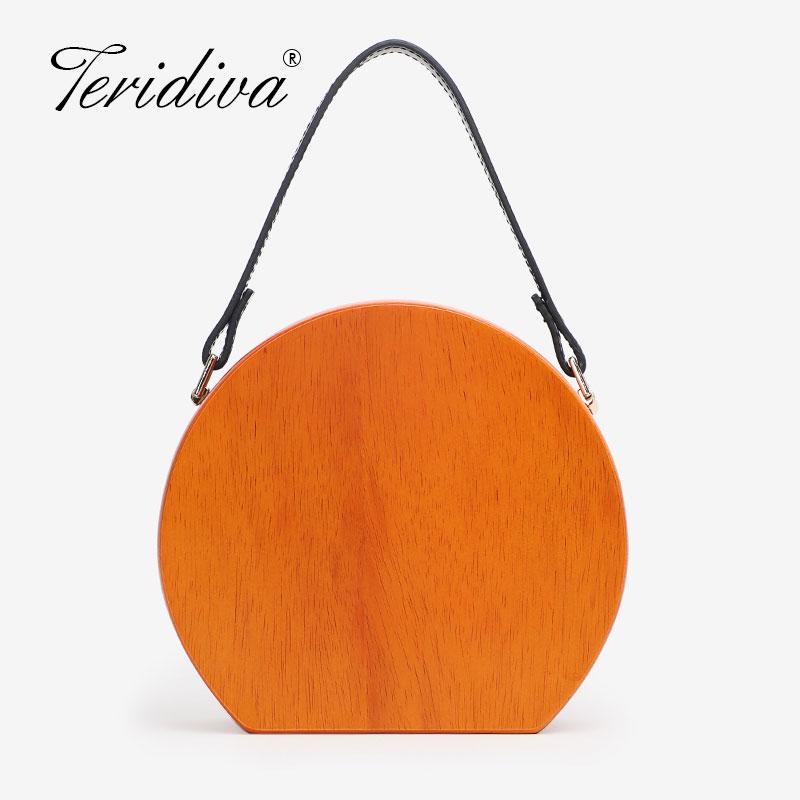 Деревянная круглая сумка, женские сумки на цепочке, сумки через плечо, женские вечерние сумки клатчи для вечеринок, дизайнерская сумка через плечо