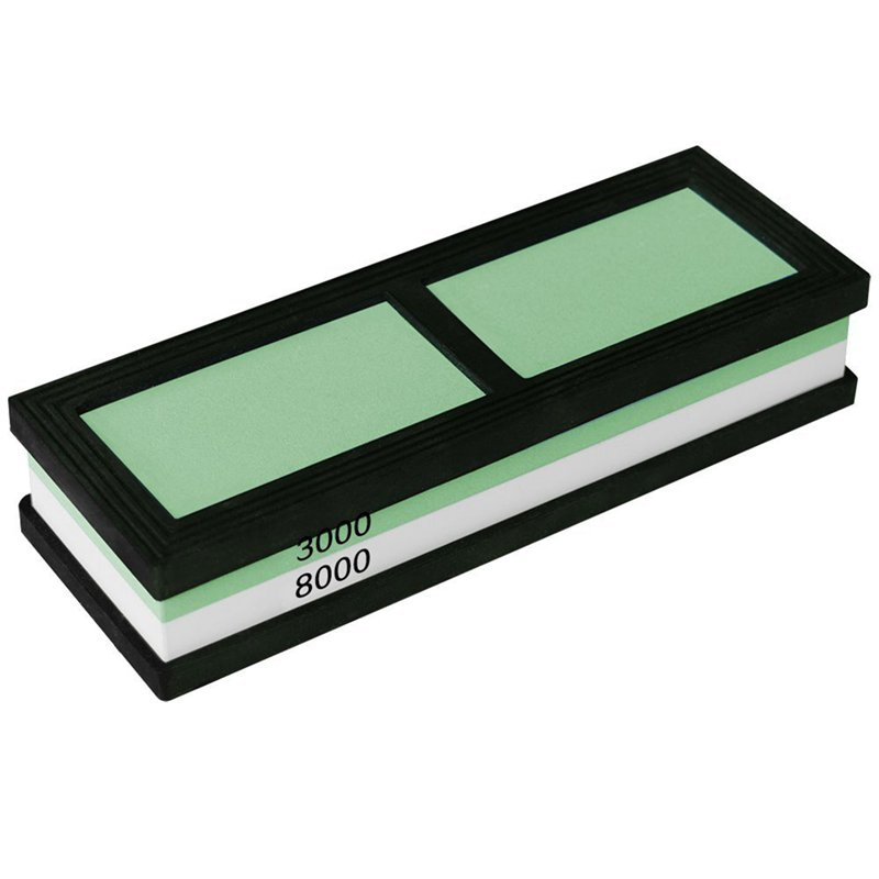 Dual-sided <font><b>3000</b></font>/<font><b>8000</b></font> <font><b>Grit</b></font> Knife Sharpening Stone,Whetstone,Flattening Stone,Water Stone,Sharpener Stone, Corundum Whetstone wi image