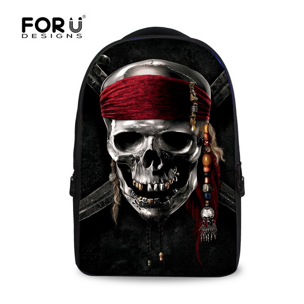 ФОТО 2017 fashion skull backpacks for teenager boys girls print school backpacks shoulder casual animal backpacks men free shipping