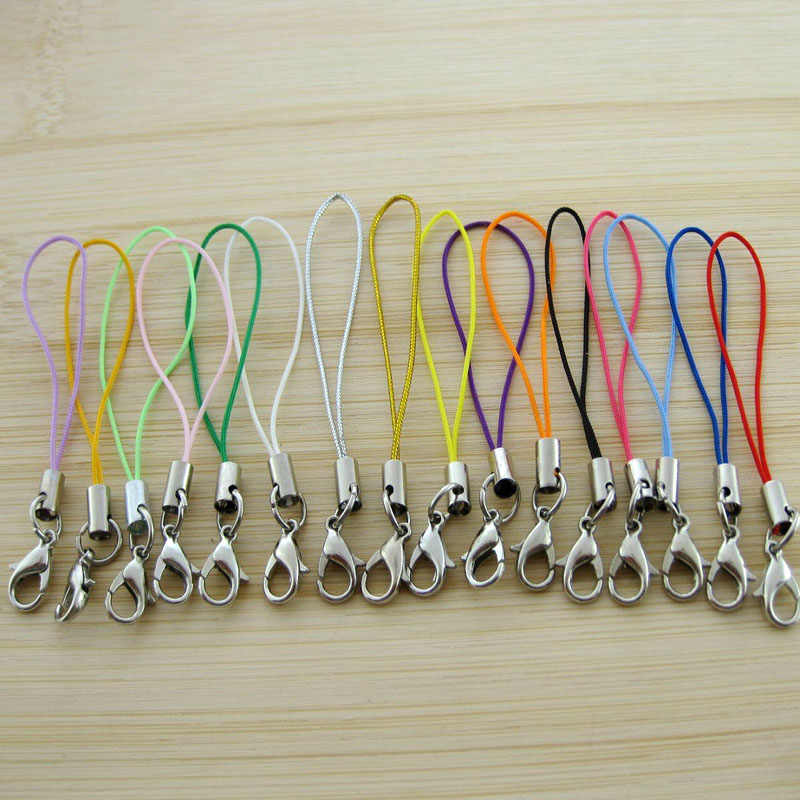 5PCS/Lot DIY Lobster Clasp Keychain Women Bag Phone Wallets Keyring Ornaments Key Chain Ring Trinket Jewelry Making  Accessories