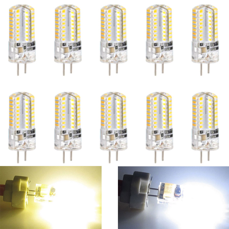 New Hot 10Pcs <font><b>G4</b></font> 5W <font><b>LED</b></font> Light Corn Bulb DC12V Energy Saving Home Decoration Lamp image